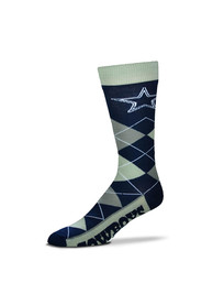 Dallas Cowboys Team Argyle Socks - Navy Blue