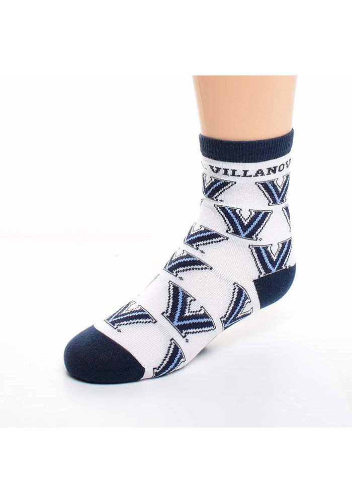 Villanova Wildcats All Over Toddler Quarter Socks - Image 1