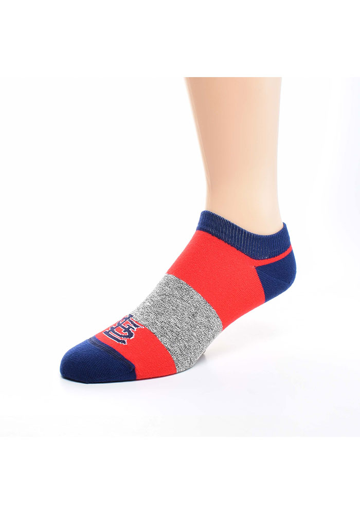 St Louis Cardinals Stripe Side Mens No Show Socks - Image 1
