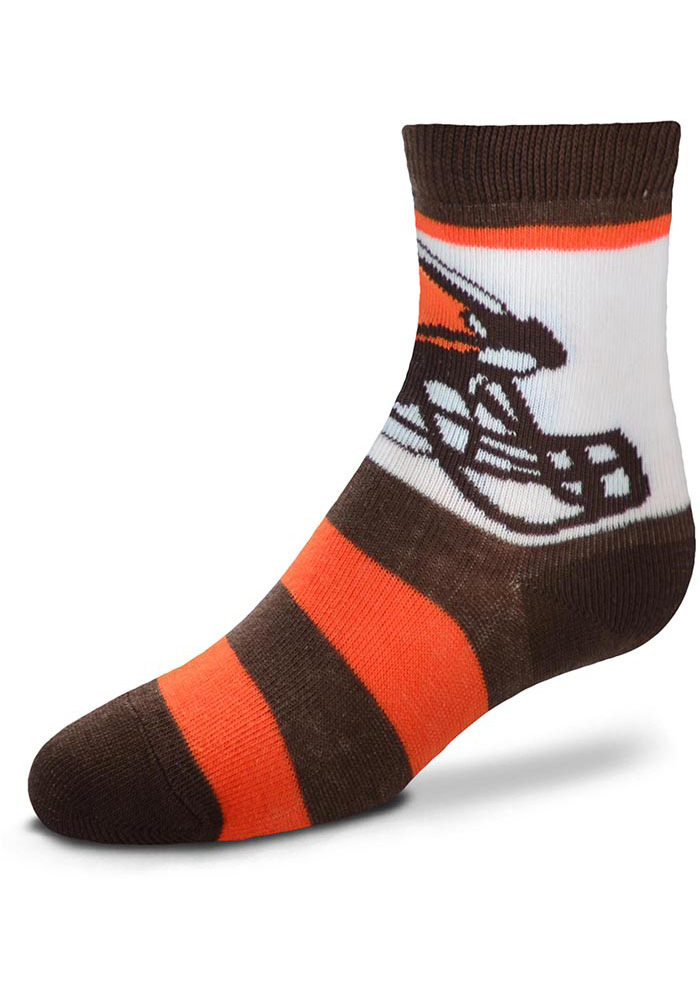 Cleveland Browns Rugby Baby Quarter Socks, Brown, Acrylic, Size TODDLER