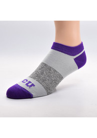 TCU Horned Frogs Womens Stripe Side No Show Socks - Purple