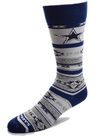 Dallas Cowboys Womens Southwest Blanket Crew Socks - Navy Blue