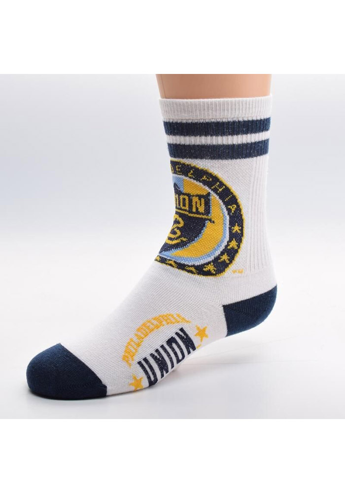 Philadelphia Union Toddler 2 Stripe Quarter Socks - White