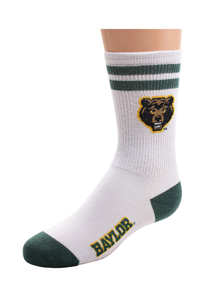 Baylor Bears 2 Stripe Baby Quarter Socks - Image 1