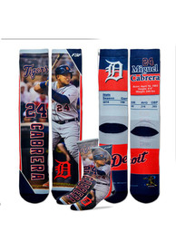 Miguel Cabrera Detroit Tigers For Barefeet Originals Trading Card Crew Socks - Navy Blue