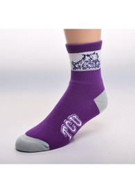 TCU Horned Frogs La Raya Quarter Socks - Purple
