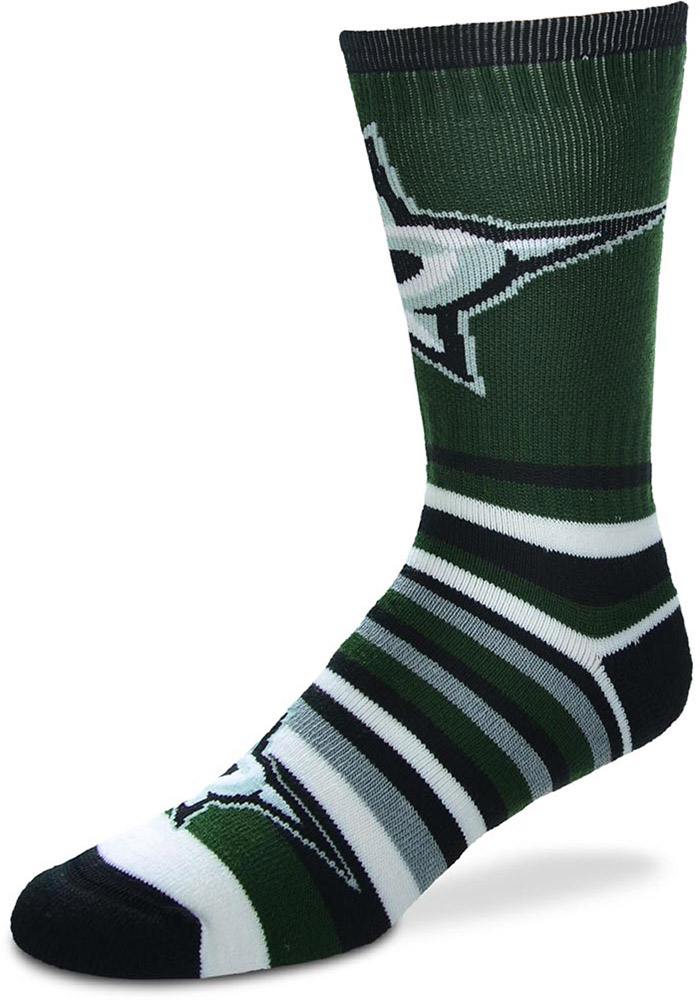 Dallas Stars Lotta Stripe Crew Socks - Kelly Green