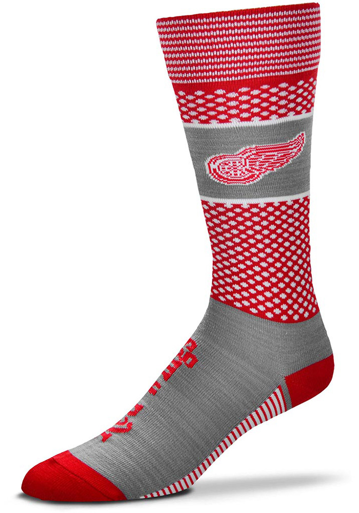 Detroit Red Wings Mojo Mens Dress Socks - Image 1