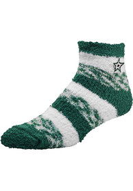 Dallas Stars Womens Stripe Quarter Socks - Green