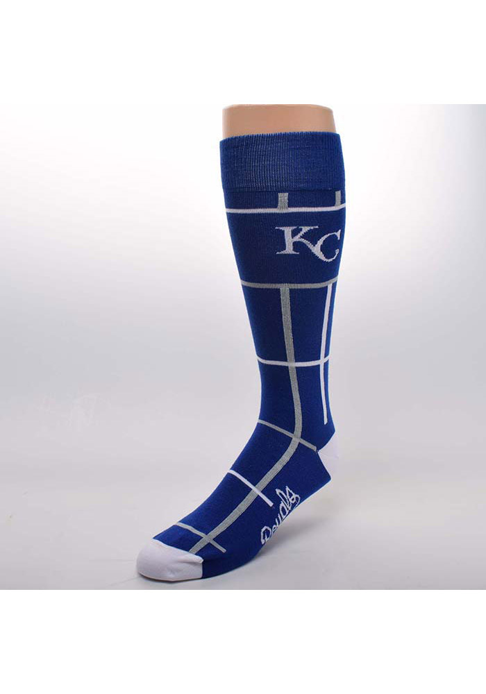 Kansas City Royals Square Stripe Mens Dress Socks - Image 1