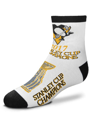 Pittsburgh Penguins Youth White 2017 Stanley Cup Champions Quarter Socks