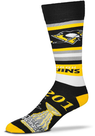 Pittsburgh Penguins Mens Black 2017 Stanley Cup Champions Crew Socks