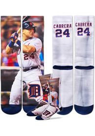 Miguel Cabrera Detroit Tigers Mens White Player Crew Socks