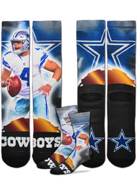 Dak Prescott Dallas Cowboys For Barefeet Originals City Star Crew Socks - Blue