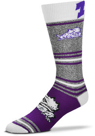 TCU Horned Frogs Stripealicious Dress Socks - Purple