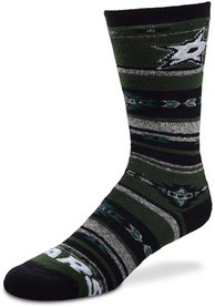 Dallas Stars Womens southwest blanket w crew Crew Socks - Green