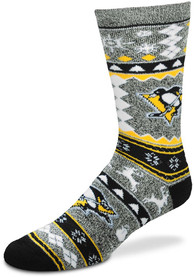 Pittsburgh Penguins ugly sweater 2015 version Crew Socks - Yellow