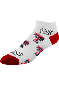 Texas Tech Red Raiders Womens womens all over no show No Show Socks - Red