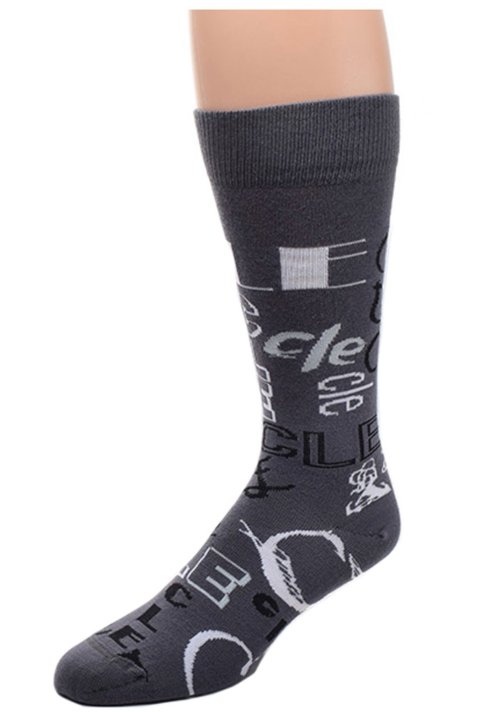 Cleveland All Over Mens Dress Socks - Image 1