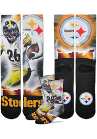 Le'Veon Bell Pittsburgh Steelers For Barefeet Originals City Star Crew Socks - Yellow