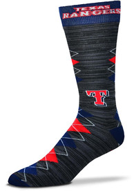 Texas Rangers Fan Nation Argyle Socks - Blue