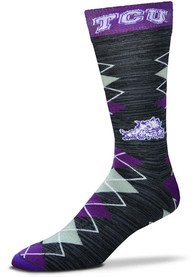 TCU Horned Frogs Fan Nation Argyle Socks - Purple