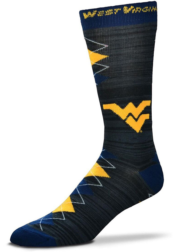 West Virginia Mountaineers Fan Nation Mens Argyle Socks - Image 1