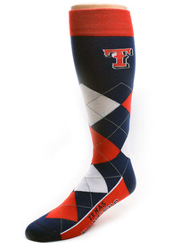 Texas Rangers Calf Logo Argyle Socks - Red
