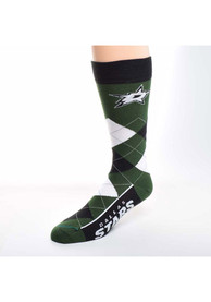Dallas Stars Calf Logo Argyle Socks - Green