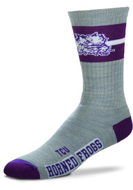 TCU Horned Frogs Deuce Band Crew Socks - Grey