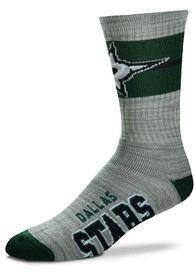 Dallas Stars Deuce Band Crew Socks - Grey