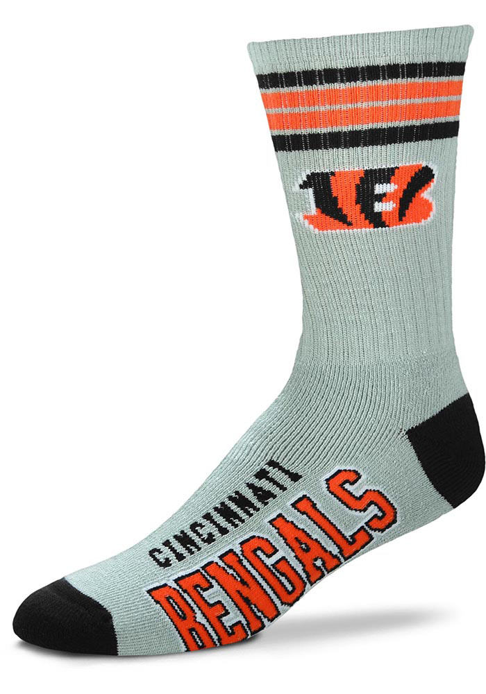 Cincinnati Bengals Deuce Black Crew Socks - Orange
