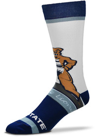 Penn State Nittany Lions Mascot Bobblehead Dress Socks - Navy Blue
