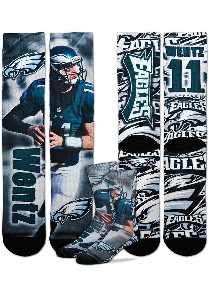 Carson Wentz Philadelphia Eagles Player Mens Crew Socks - Image 1
