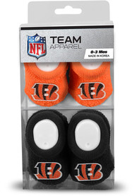 Cincinnati Bengals Baby 2PK Bootie Boxed Set - Orange