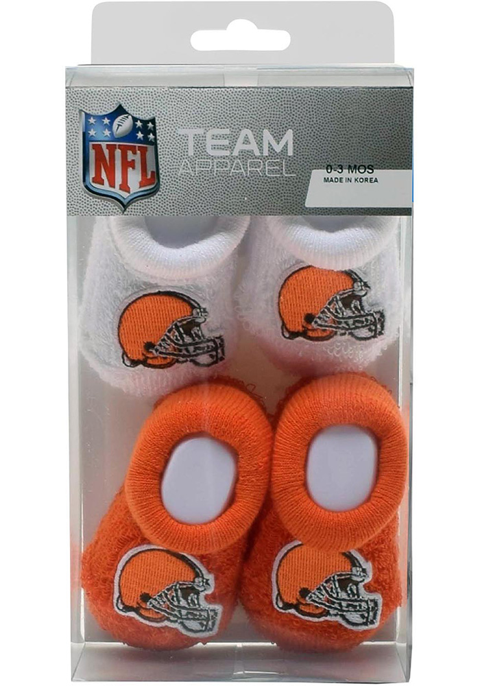 Cleveland Browns 2PK Baby Bootie Boxed Set - Image 1