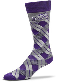 TCU Horned Frogs Plaid Argyle Socks - Purple