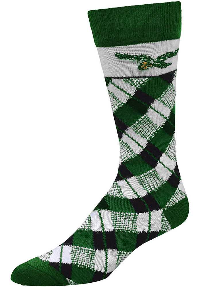 Philadelphia Eagles Plaid Mens Argyle Socks - Image 1