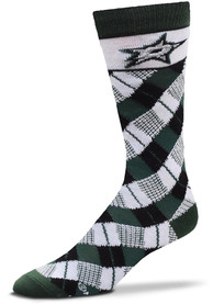 Dallas Stars Plaid Argyle Socks - Green