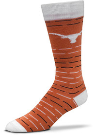 Texas Longhorns Dash Stripe Dress Socks - Burnt Orange