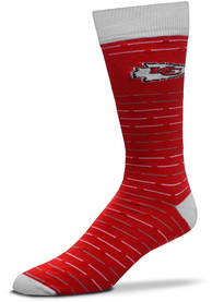 Kansas City Chiefs Dash Stripe Dress Socks - Red