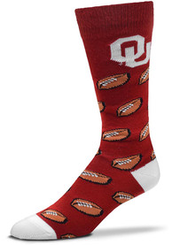 Oklahoma Sooners Allover Dress Socks - Crimson