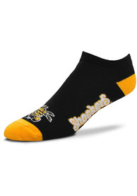 Wichita State Shockers Team Color No Show Socks - Black