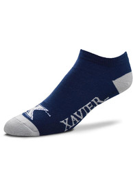 Xavier Musketeers Team Color No Show Socks - Navy Blue
