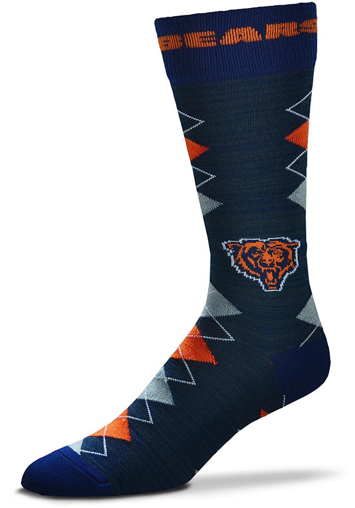 Chicago Bears Fan Nation Argyle Socks - Navy Blue