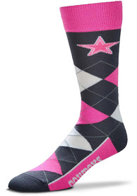Dallas Cowboys Melange Argyle Socks - Pink