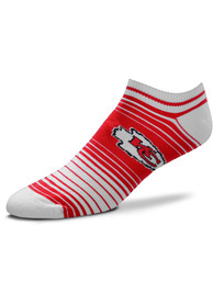 1ee62a0f Kansas City Chiefs Womens Red In and Out Stripes No Show Socks
