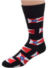 Wichita Mens Black Allover Dress Socks