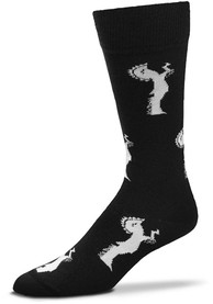 Wichita Mens Black Spirit of Wichita Dress Socks