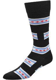 Chicago Mens Black Allover Dress Socks